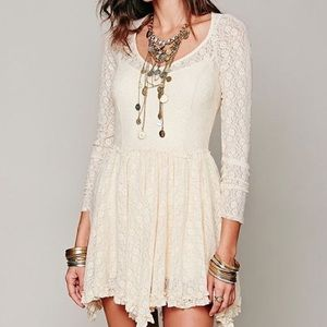 Free People Witchy Skater Lace Dress
